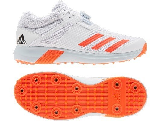 2021 Adidas AdiPower Vector Mid Bowling Cricket Shoes - Solar Red