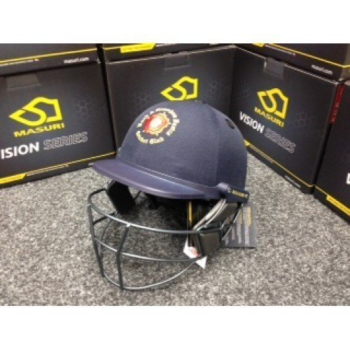 An example of a Masuri Personalised Test Cricket Helmet