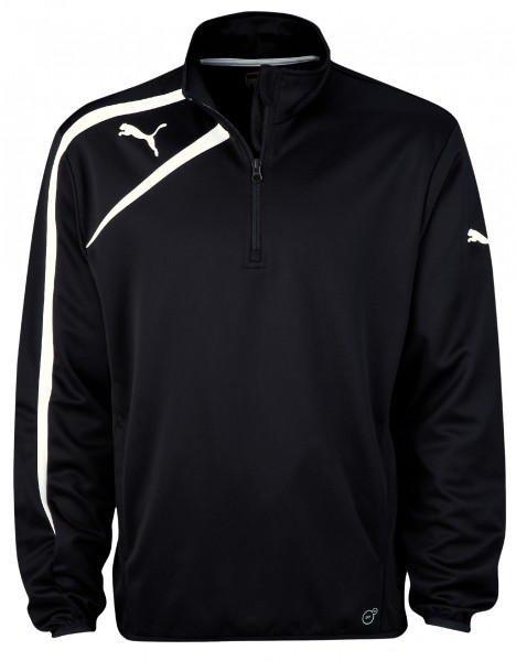 PUMA Spirit Black Training Jacket with Half Zip