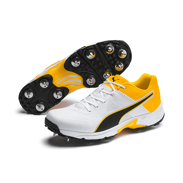2021 Puma 19.2 Spike Cricket Shoes - White/Black/Orange