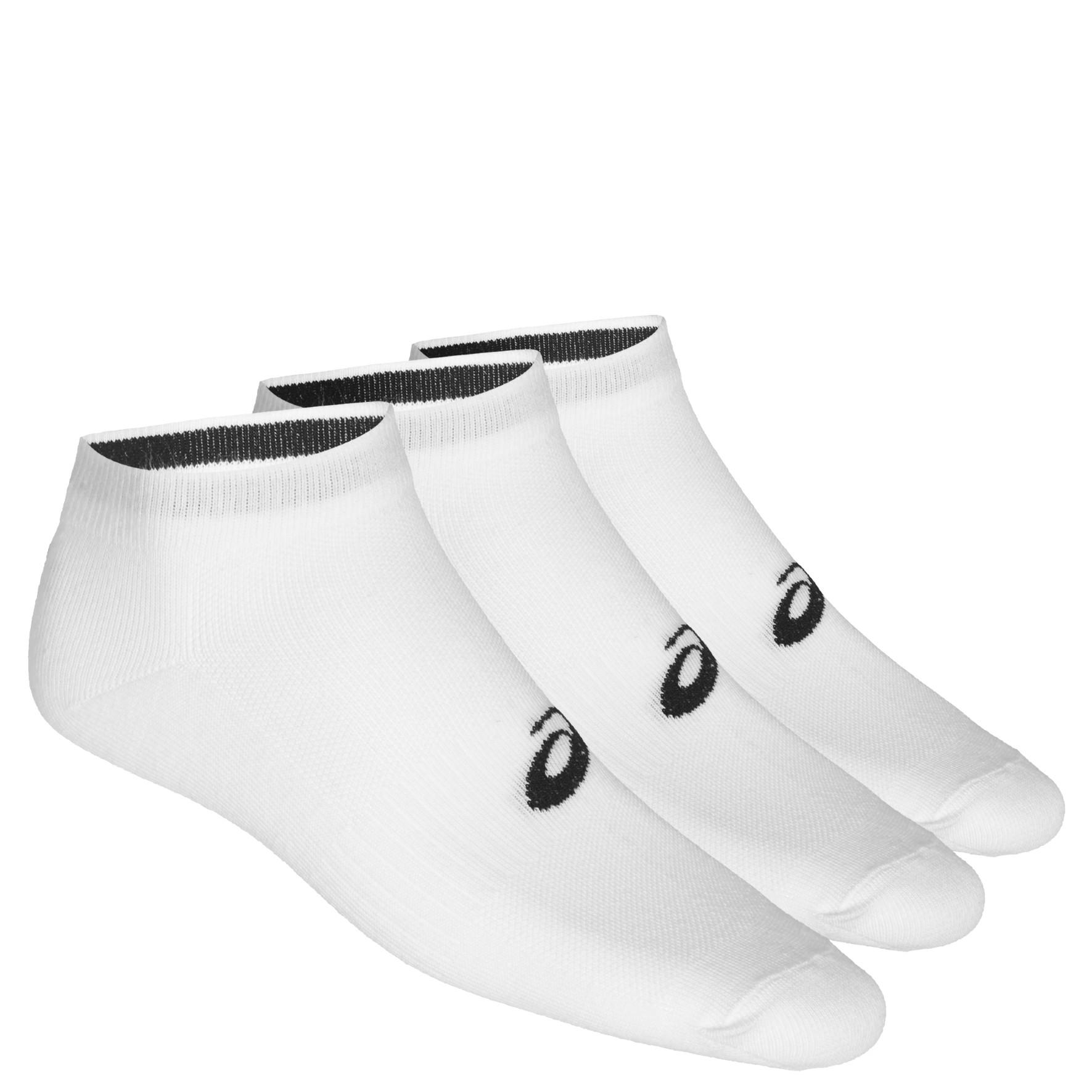 2019 Asics 3PPK White Ped Socks