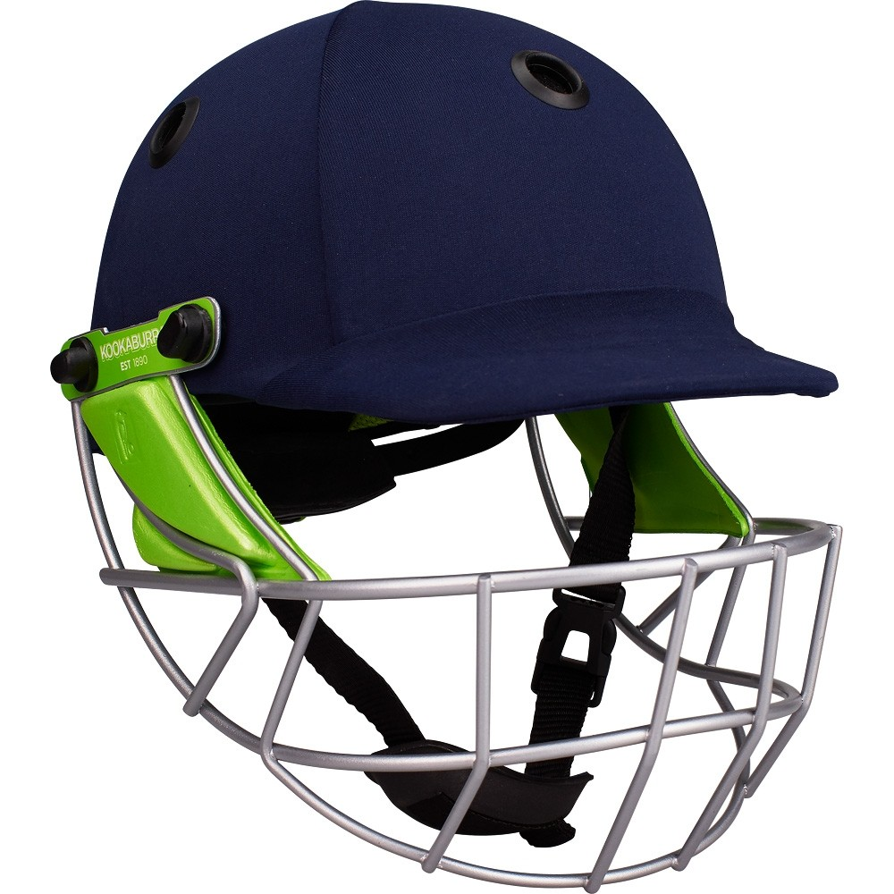 2021 Kookaburra Pro 600 Navy Cloth Cricket Helmet
