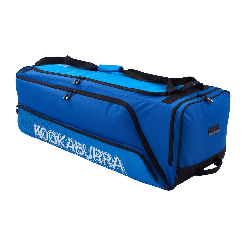 2020 Kookaburra Pro 2.0 Wheelie Cricket Bag - Navy/Cyan