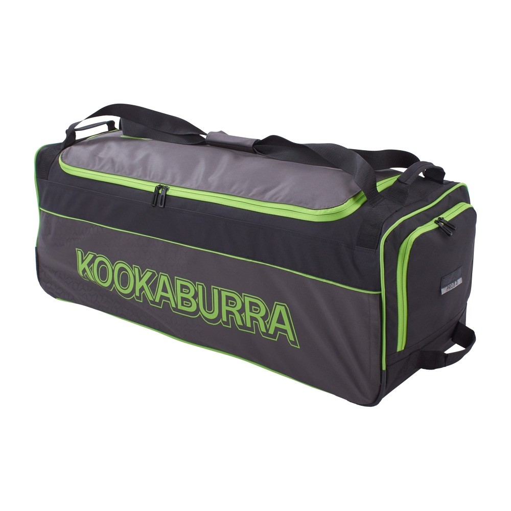 2020 Kookaburra Pro 3.0 Wheelie Cricket Bag - Black/Lime