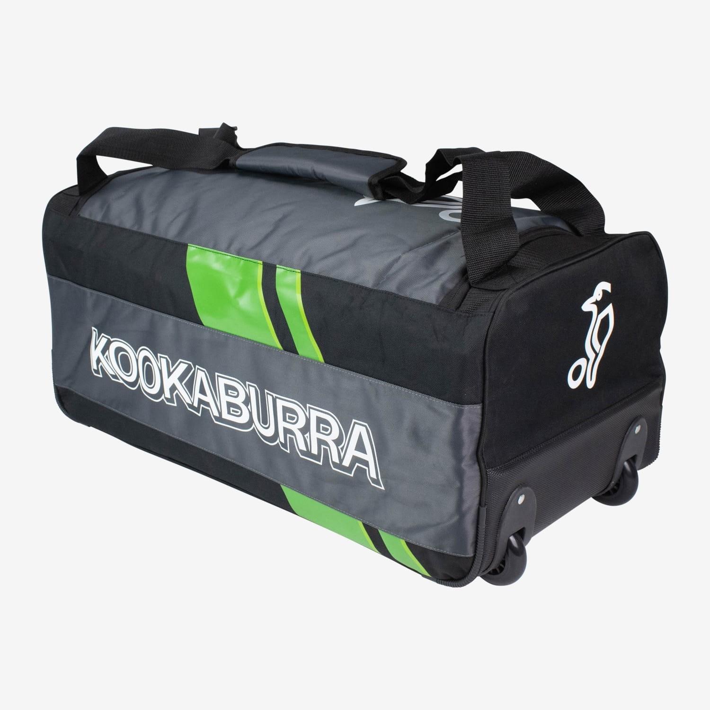 2021 Kookaburra 8.0 Wheelie Cricket Bag - Black/White