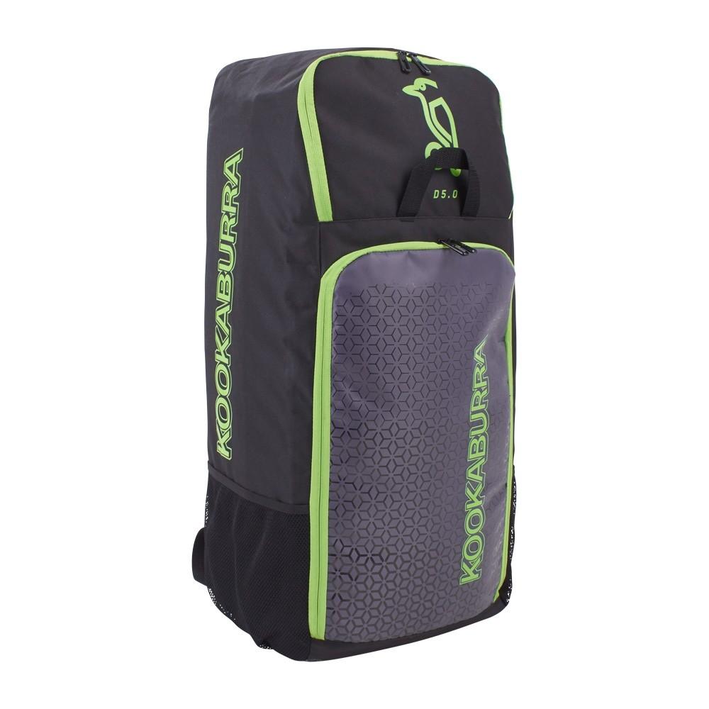 2021 Kookaburra d5 Duffle Cricket Bag - Black/Lime