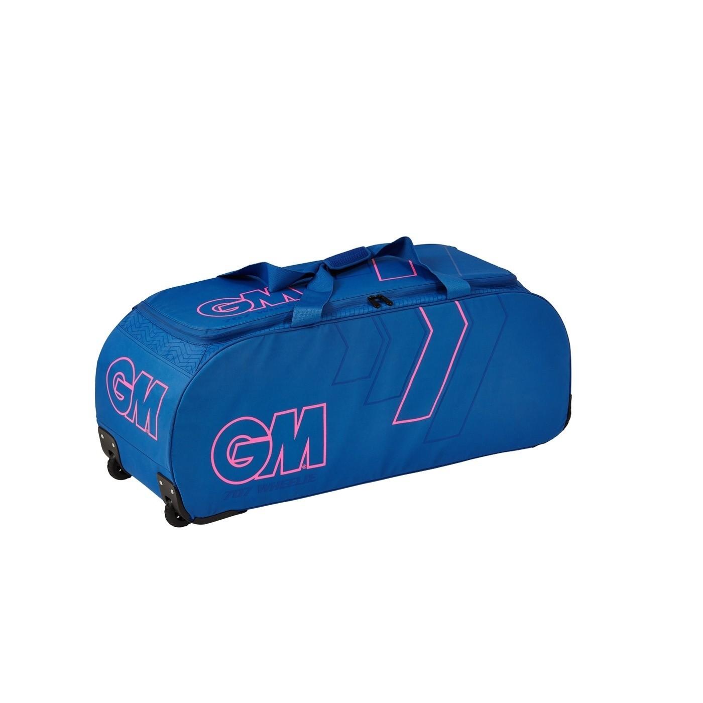 2021 Gunn and Moore 707 Wheelie Cricket Bag - Blue/Pink