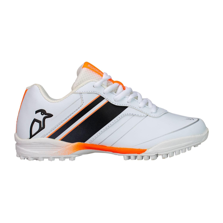 2021 Kookaburra KC 5.0 Rubber Junior Cricket Shoes - White/Black/Orange