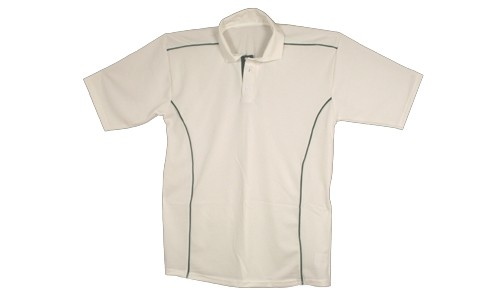 Proskins Brisbane Short Sleeved Cricket Shirt - White/Green