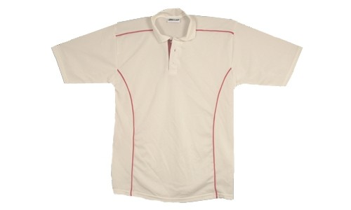 Proskins Brisbane Short Sleeved Cricket Shirt - White/Red
