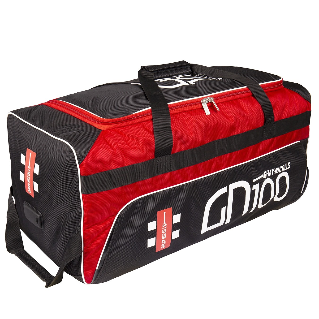 2020 Gray Nicolls GN 100 Wheelie Cricket Bag - Black & Red
