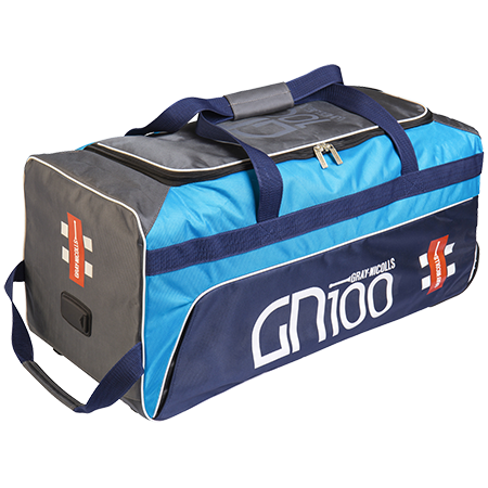 2020 Gray Nicolls GN 100 Wheelie Cricket Bag - Blue