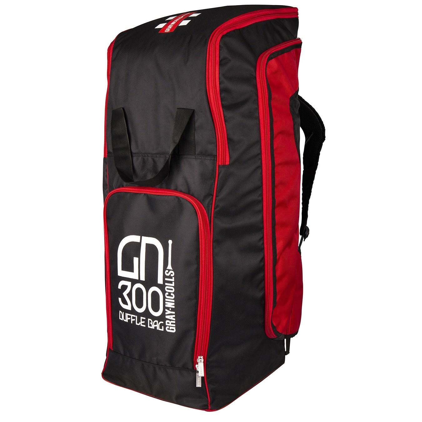 2021 Gray Nicolls GN 300 Duffle Cricket Bag - Black & Red