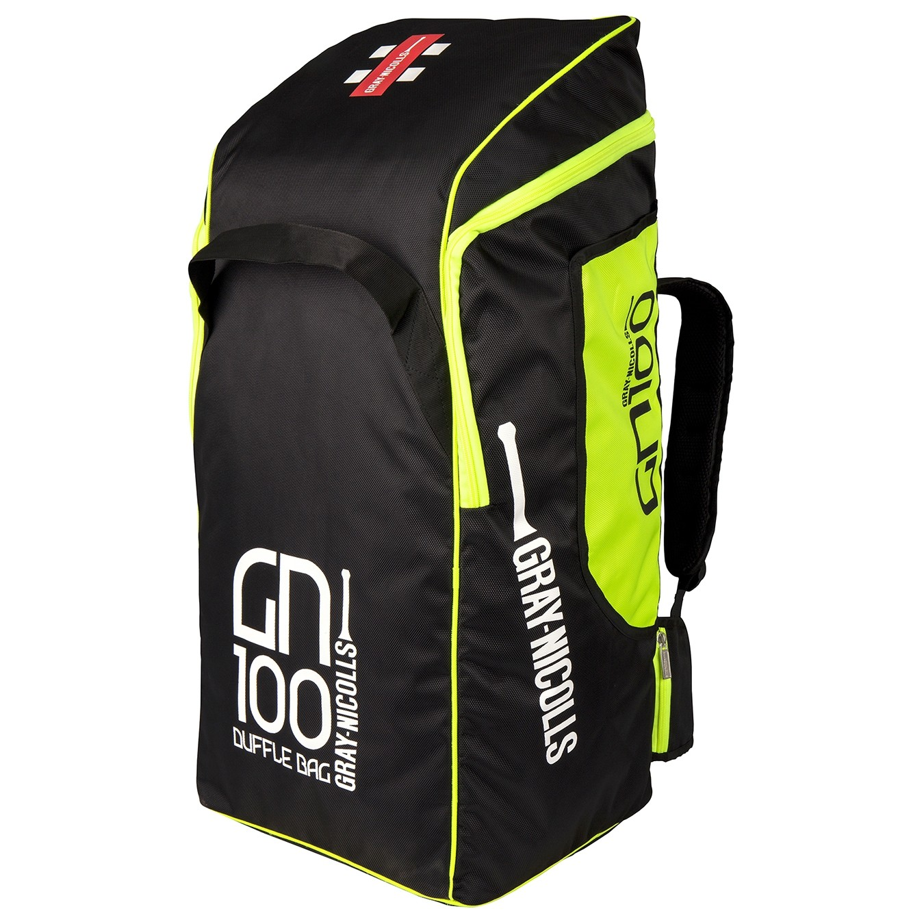 2021 Gray Nicolls GN 100 Duffle Cricket Bag - Black & Fluo Yellow