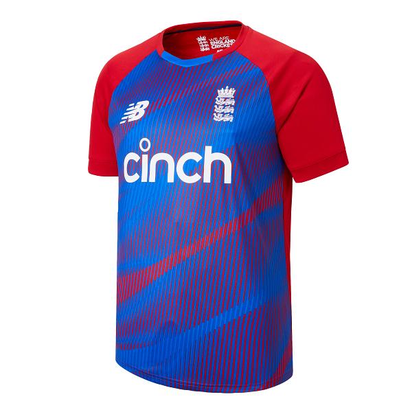 2021 New Balance England Dominate T20 Replica Junior Cricket Shirt