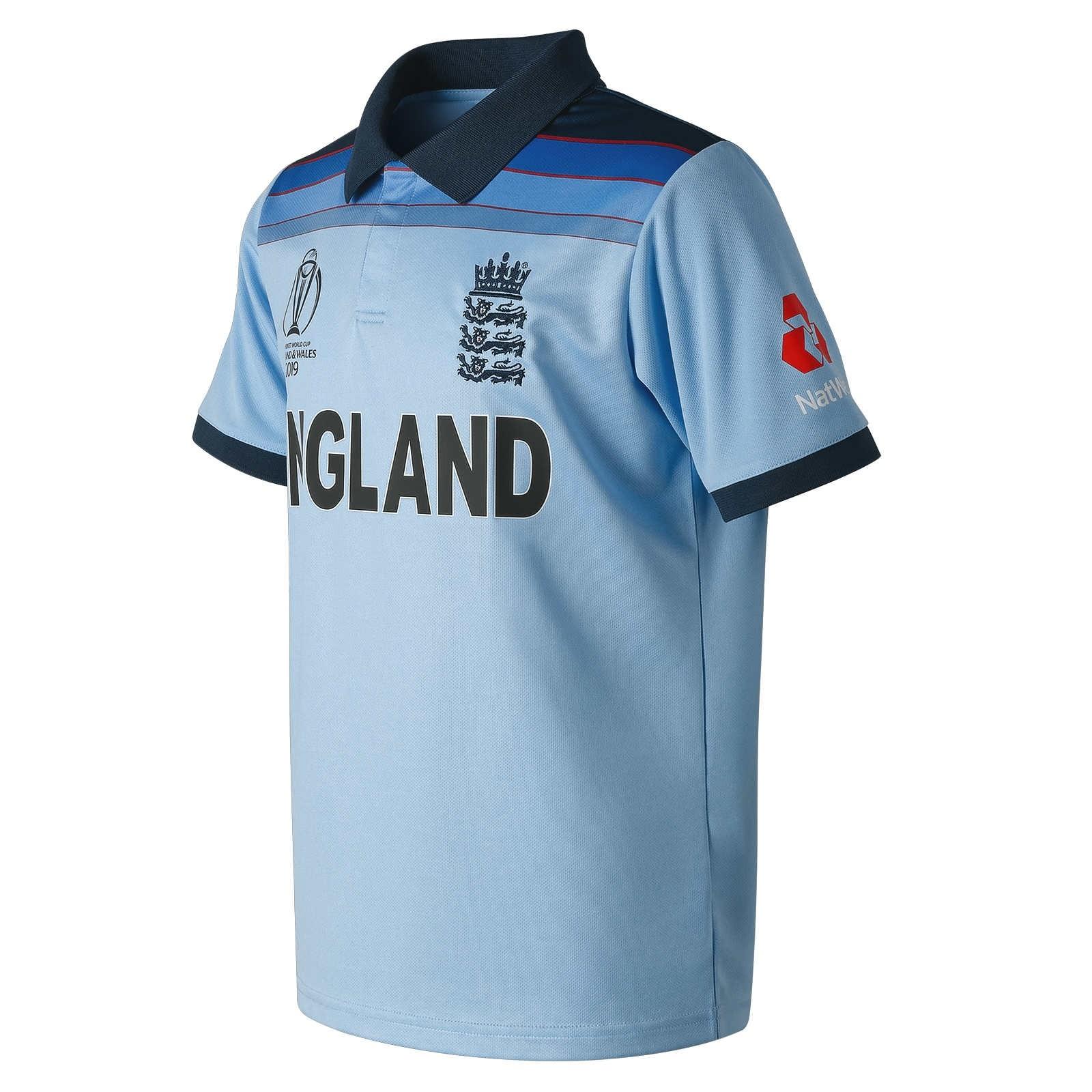 2019 New Balance England Cricket World Cup ODI Replica Junior Cricket Shirt
