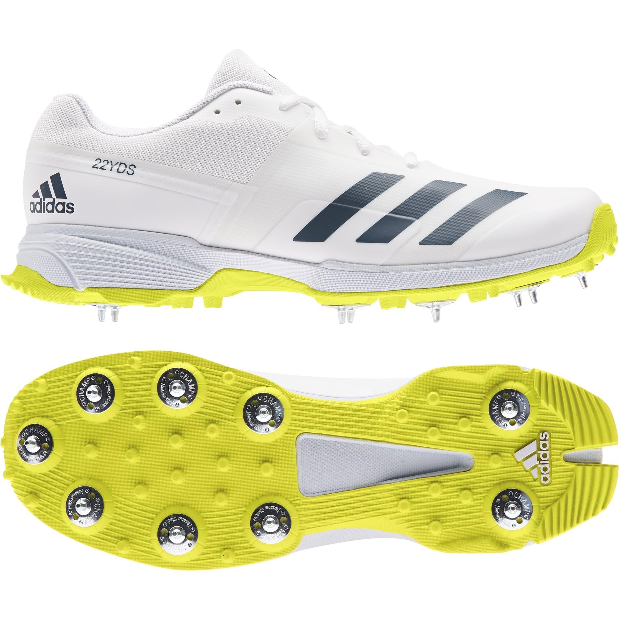 2021 Adidas 22YDS Full Spike II Cricket Shoes - Acid Yellow