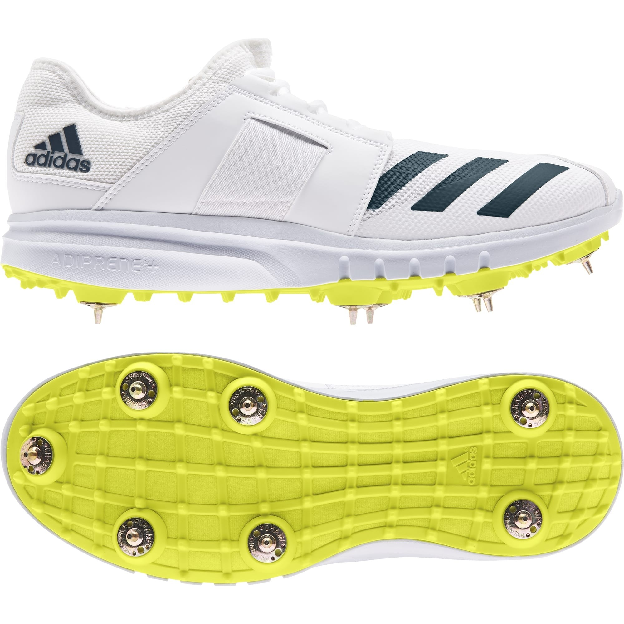 2021 Adidas Howzat Junior Full Spike Cricket Shoes - Acid Yellow