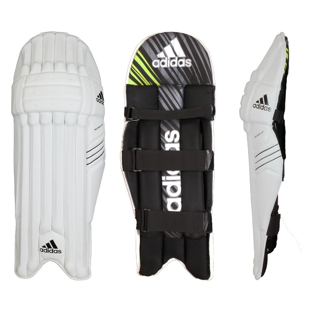 2021 Adidas Incurza 3.0 Acid Yellow Batting Pads