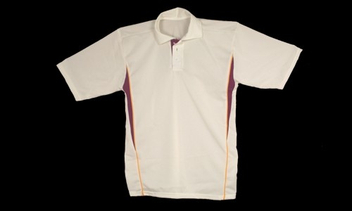 Proskins Melbourne Short Sleeved Cricket Shirt - White/Maroon