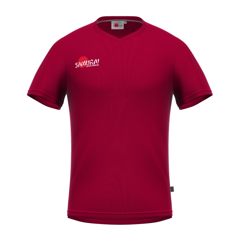 Samurai Maroon T Shirt Front