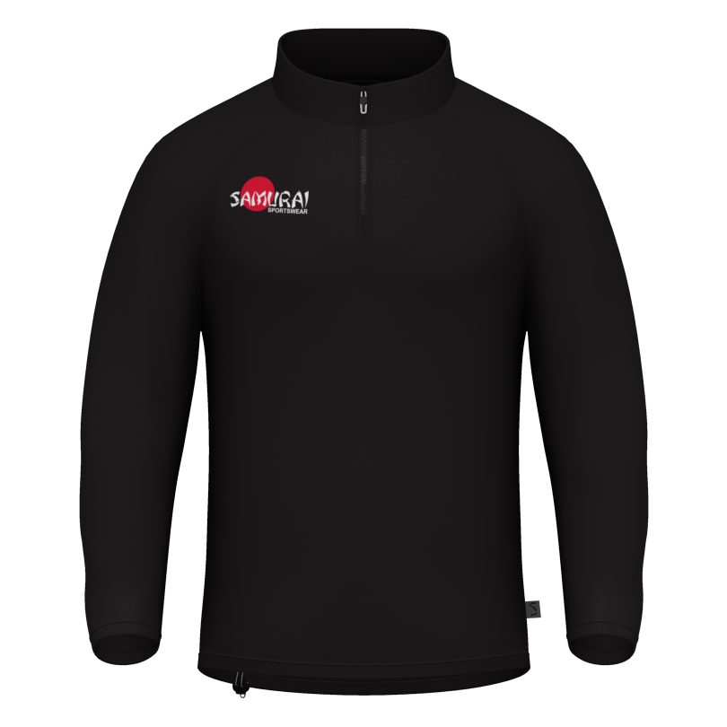 Samurai Black 1/4 Zip Training Top