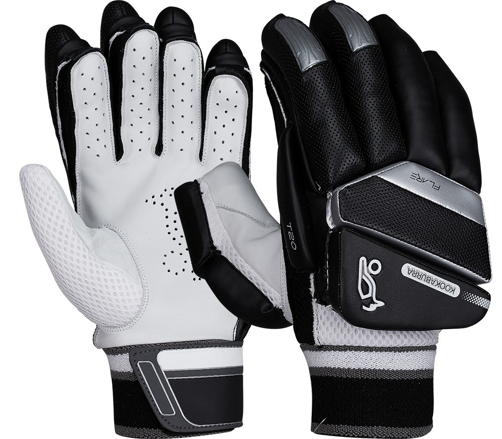 2021 Kookaburra T/20 Flare - Black Batting Gloves