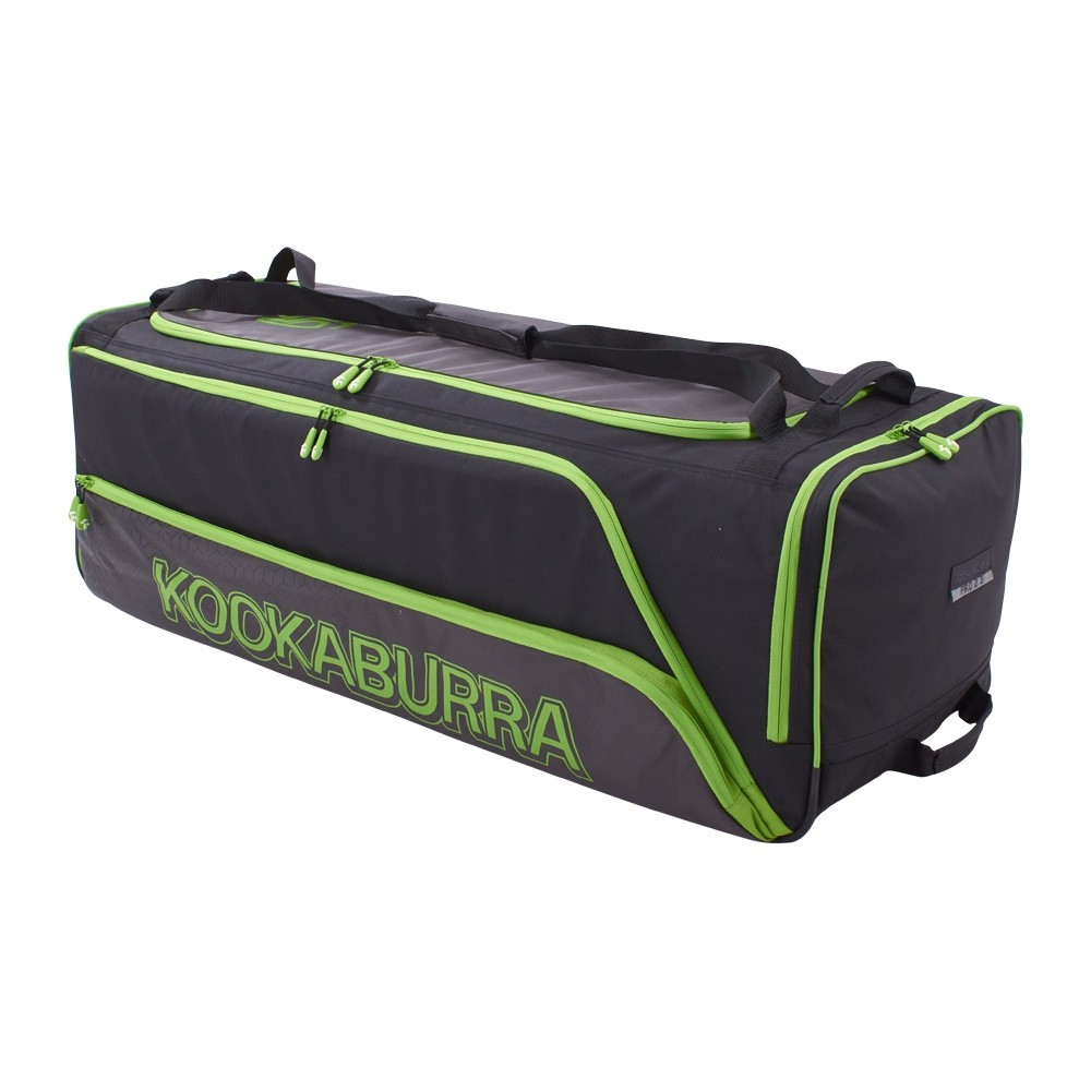 2021 Kookaburra Pro 2.0 Wheelie Cricket Bag - Black/Lime