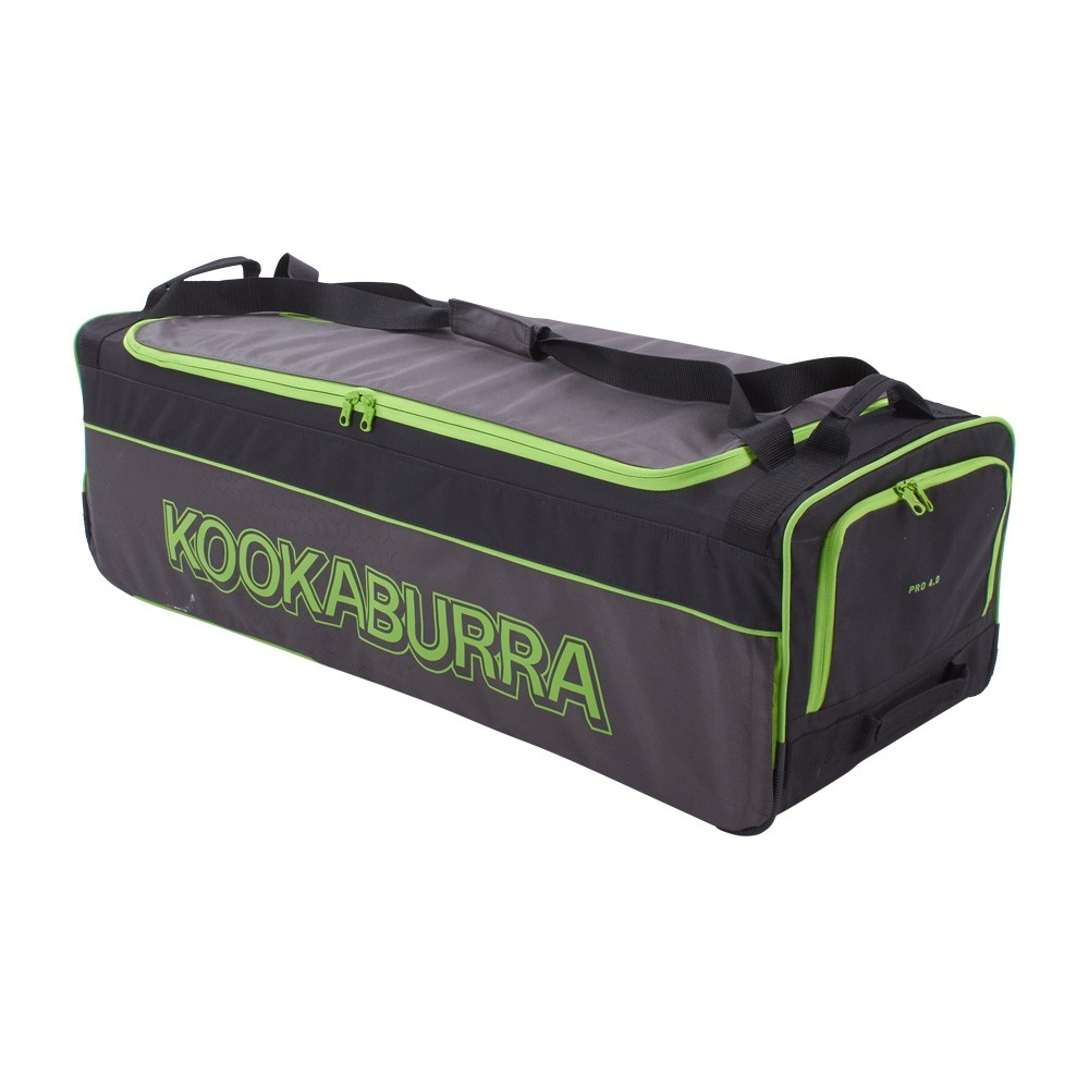 2020 Kookaburra 4.0 Wheelie Cricket Bag - Black/Lime