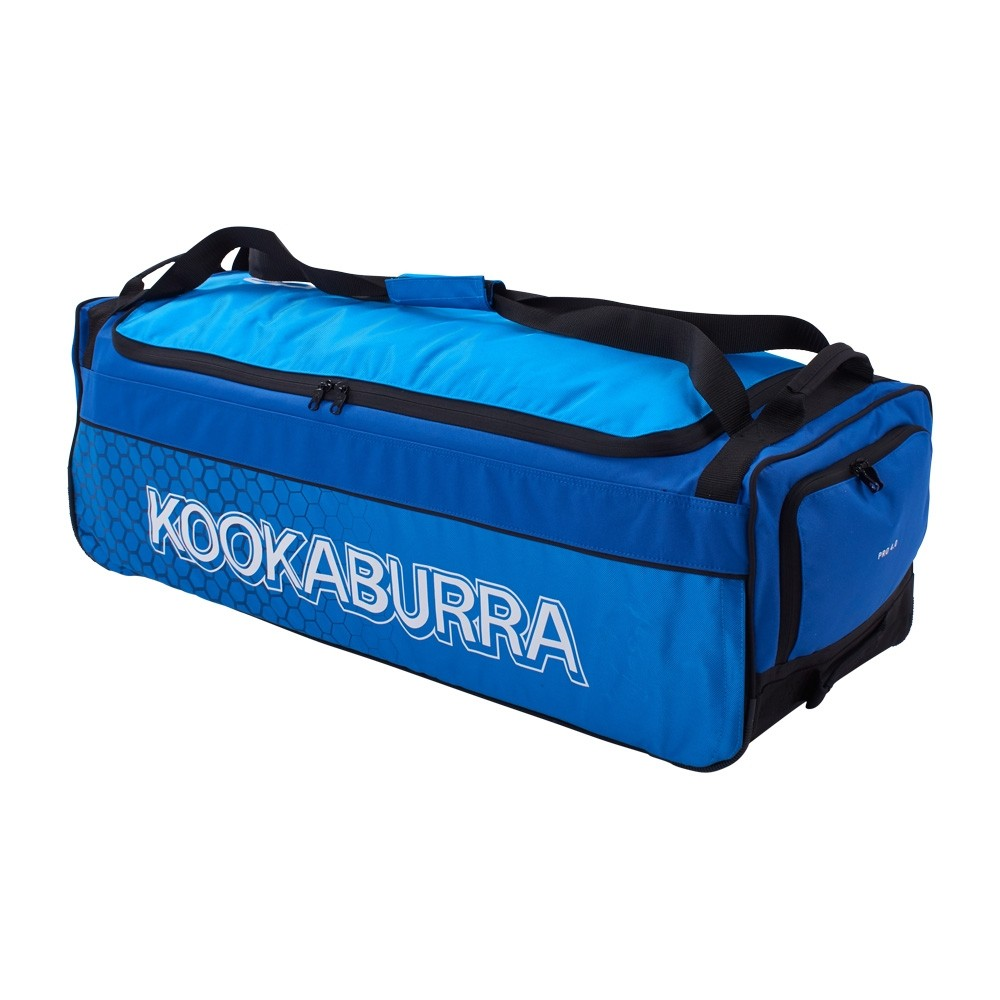2021 Kookaburra 4.0 Wheelie Cricket Bag - Navy/Cyan