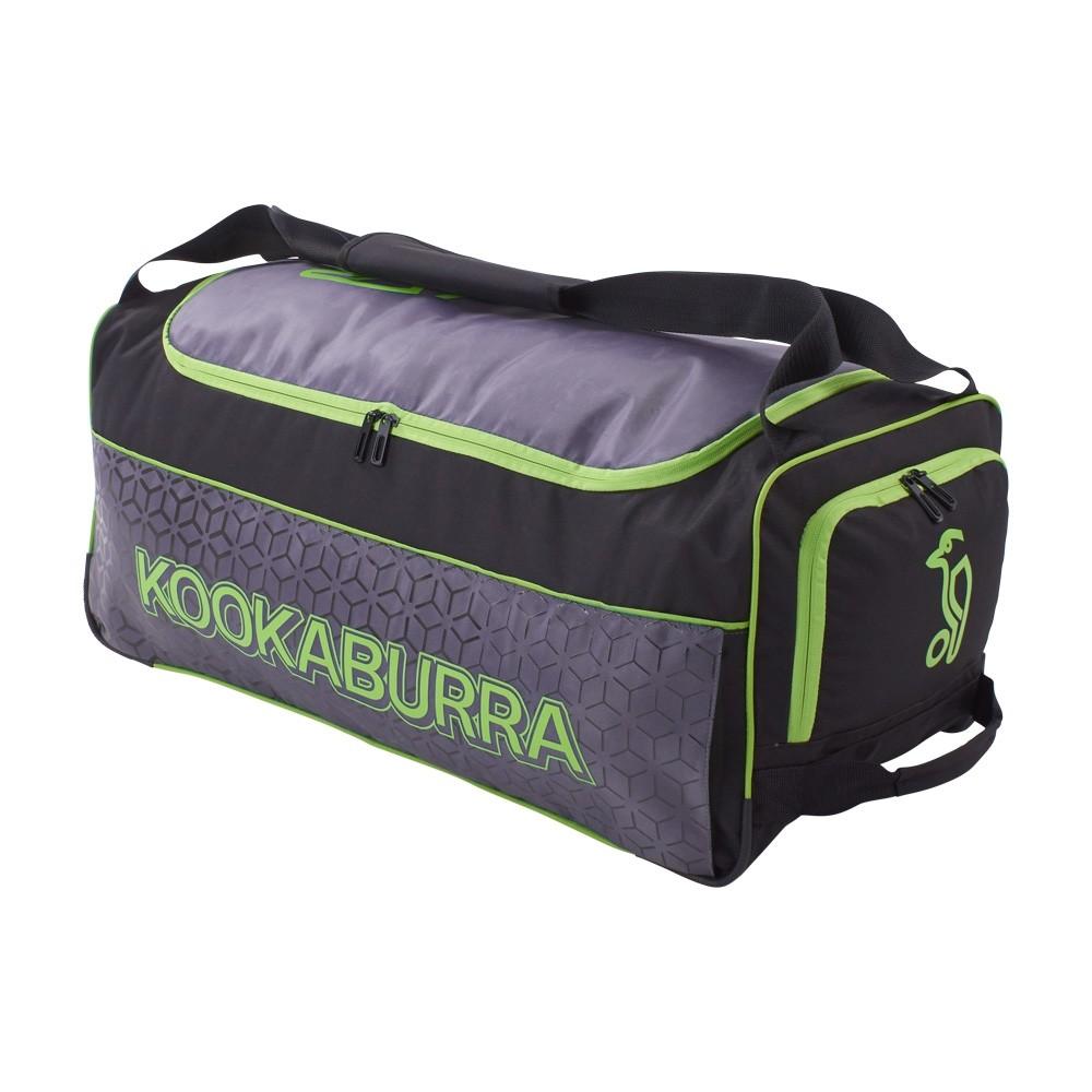 2021 Kookaburra 5.0 Wheelie Cricket Bag - Black/Lime