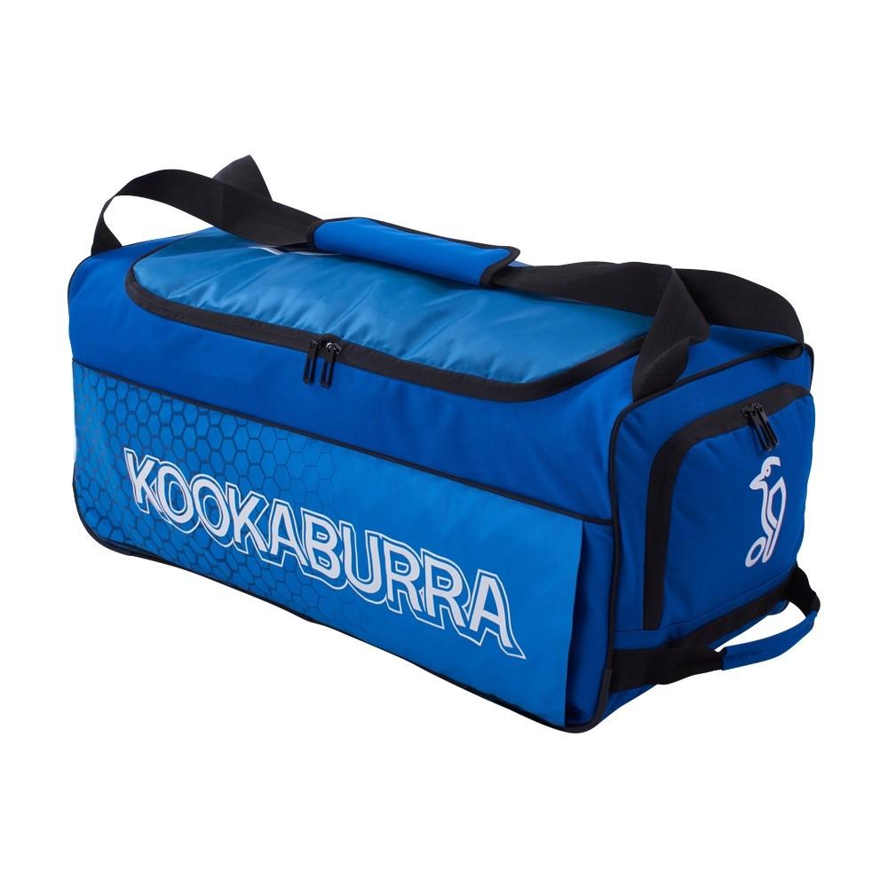 2021 Kookaburra 5.0 Wheelie Cricket Bag - Navy/Cyan