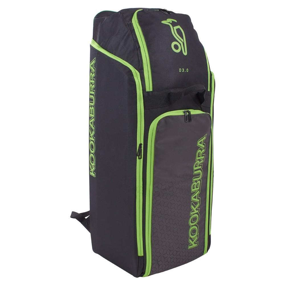 2021 Kookaburra d3 Duffle Cricket Bag - Black/Lime