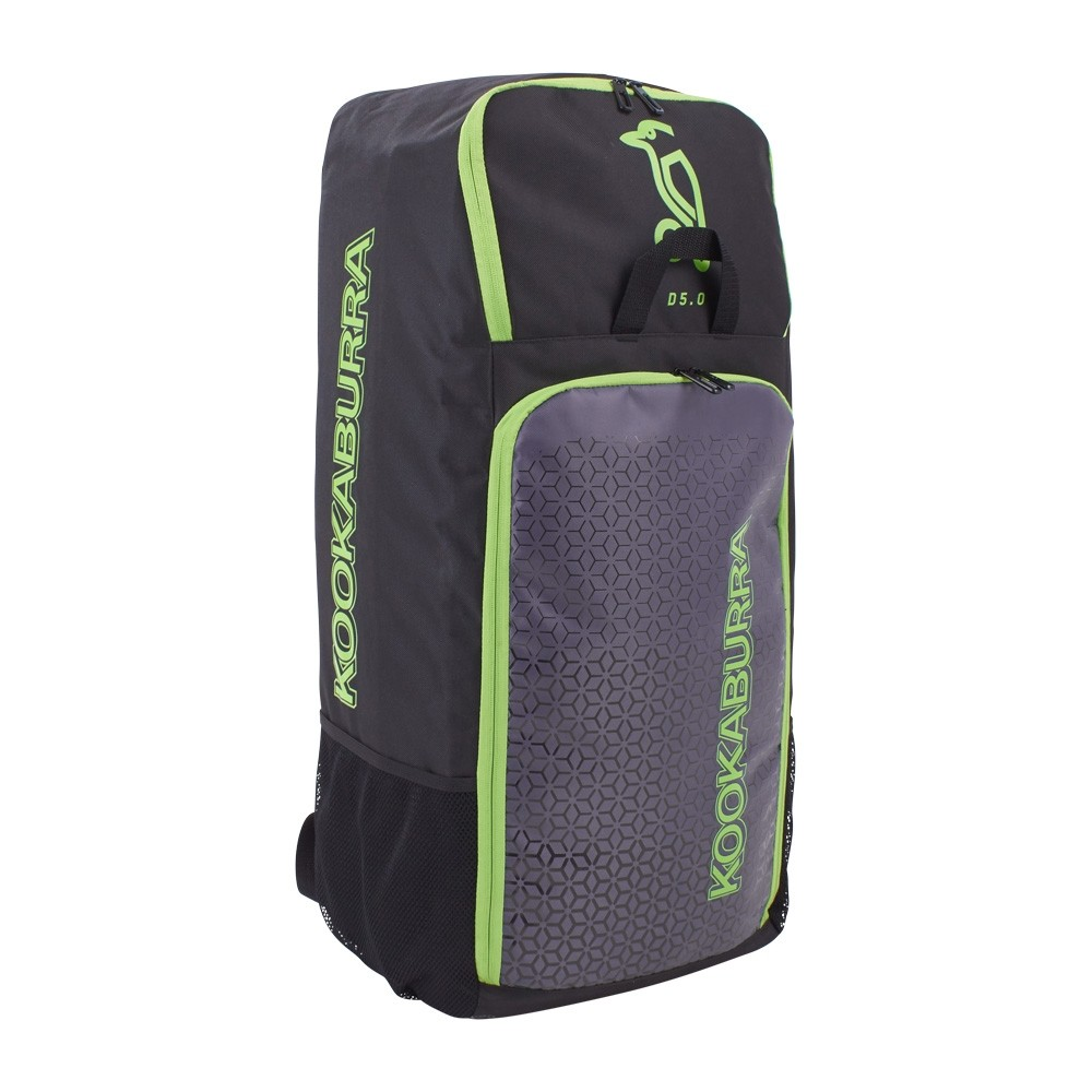 2021 Kookaburra d5 Duffle Cricket Bag - Black/Lime